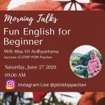 "Morning Talks ""Fun English for Beginner"""