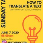 "Sunday Talk ""How to Translate A Text"""