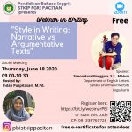 "Webinar on Writing ""Style in Writing:Narrative vs Argumentative Texts"""